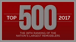 qualified remodeler top 500 2017 award finished basements plus