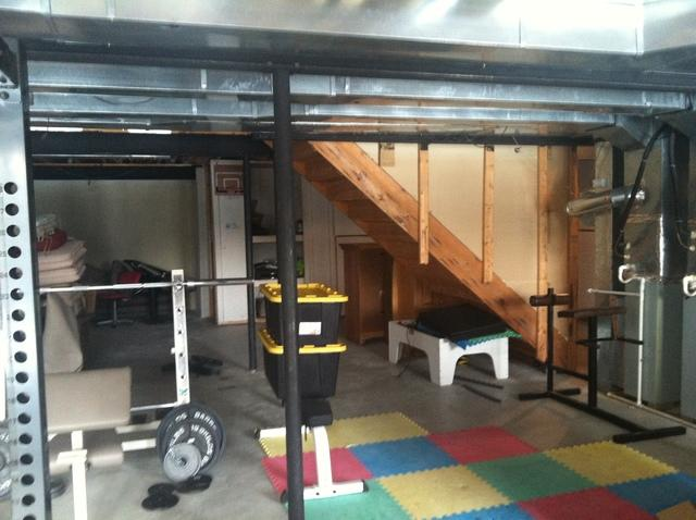 unfinished basement with storage