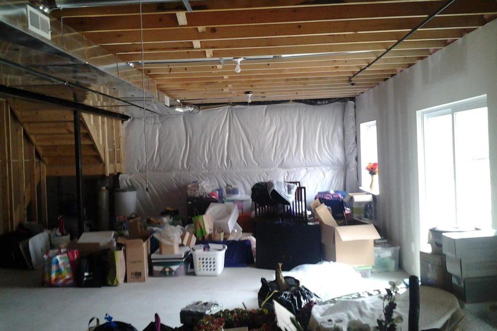 unused basement with storage