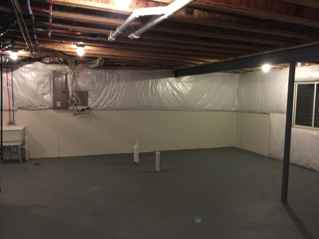 unused basement in home with plenty of space