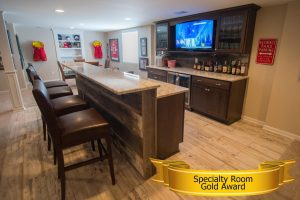 home builders association of south eastern michigan gold award for specialty room finished basements plus