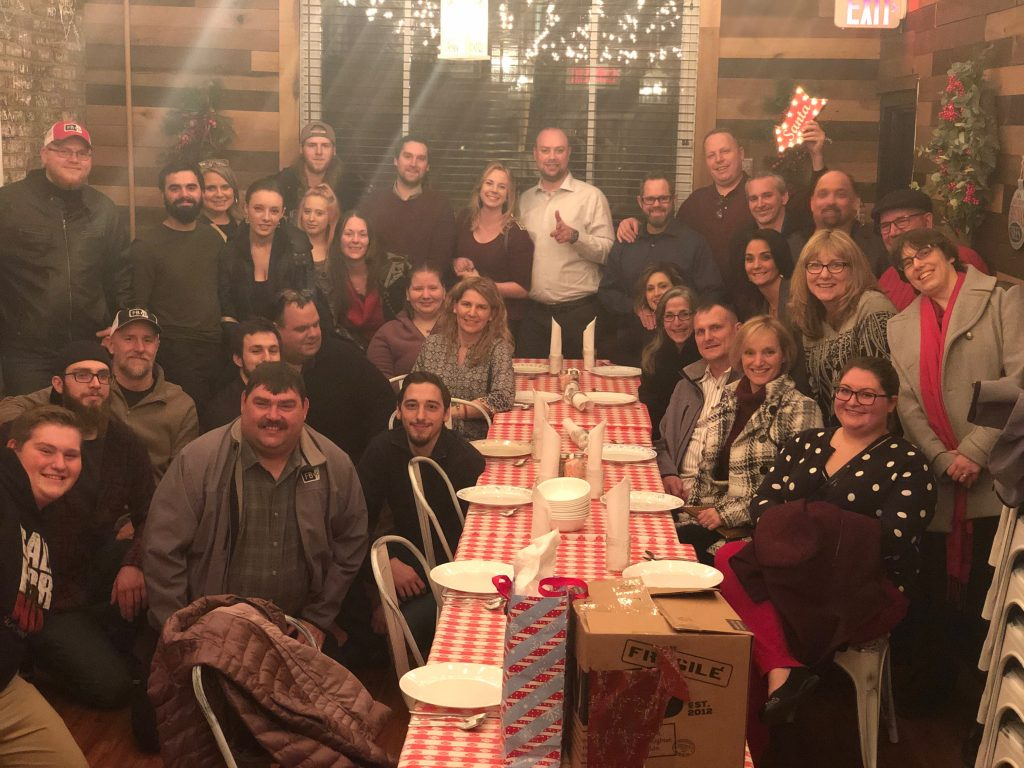 finished basements plus christmas party with entire staff
