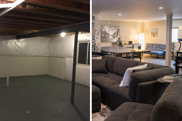 novi michigan finished basement open concept design