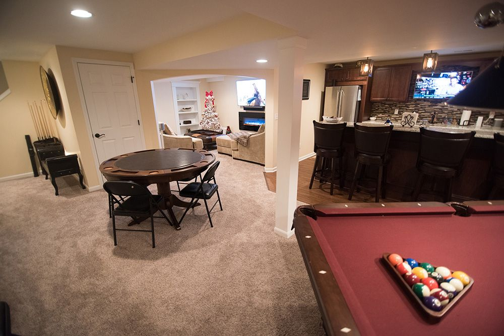 Project Gallery: Traditional Finished Basement Design, Belleville MI