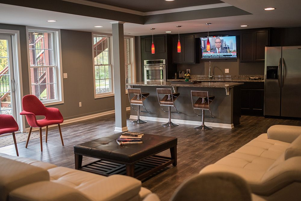 canton michigan finished basement with walk out
