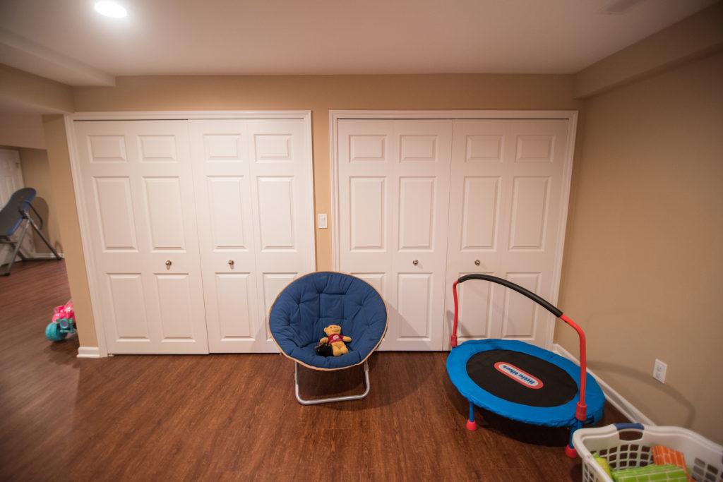 basement closets for storage