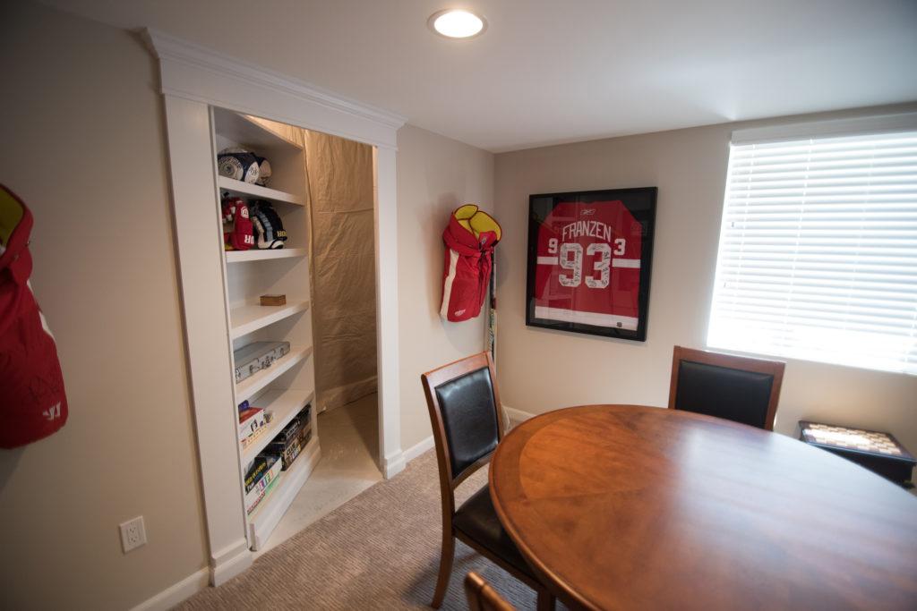 basement secret door a shelf on hinges