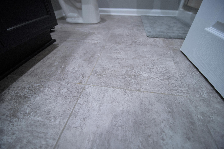 finished basement flooring vinyl tile grey