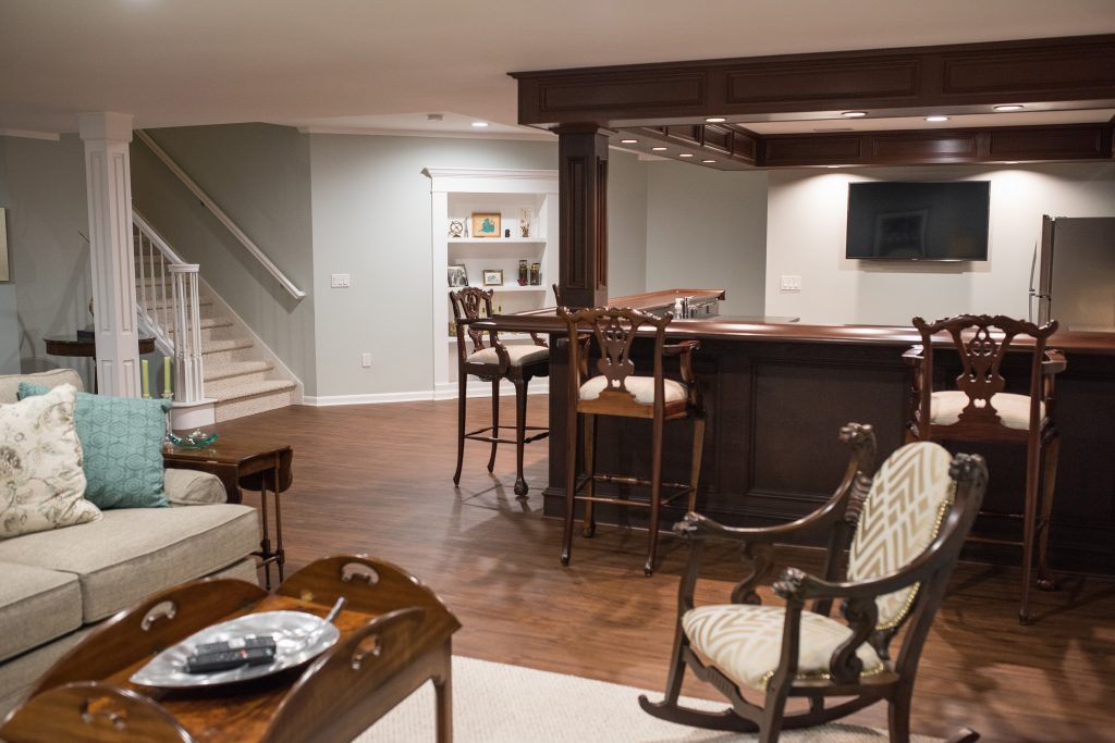 large kitchen area is next to the living room offering additional seating