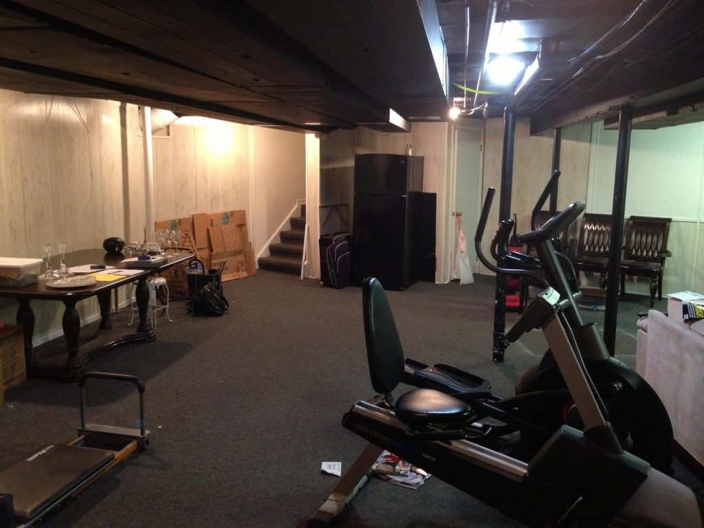 unfinished basement that needs to be remodeled