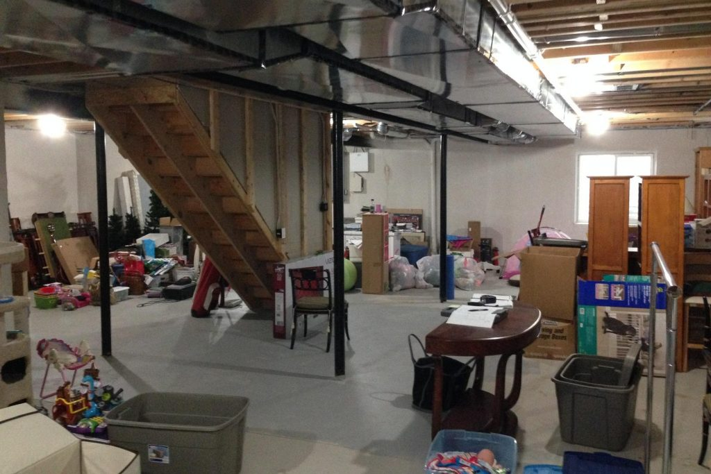 unused basement with no use other than storage