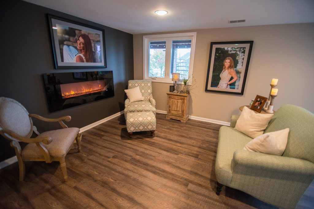 vinyl plank flooring electric fireplace basement
