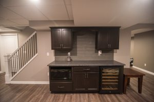 staircase and basement remodel to open up into the basement design