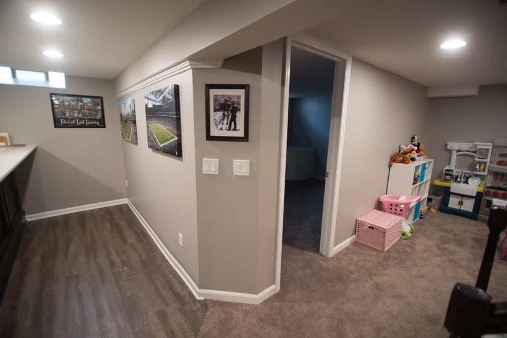 basement bedroom for visiting guests