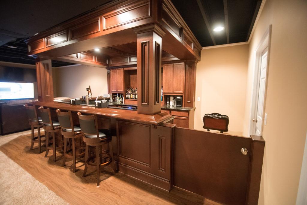 Utica Mi Finished Basement With Pub Style Bar Finished