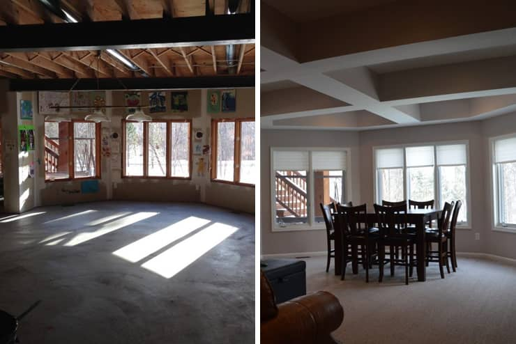 finished basement waterford michigan before and after