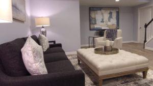 Finished basement living room