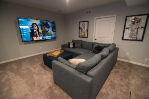 home theater couch sectional basement