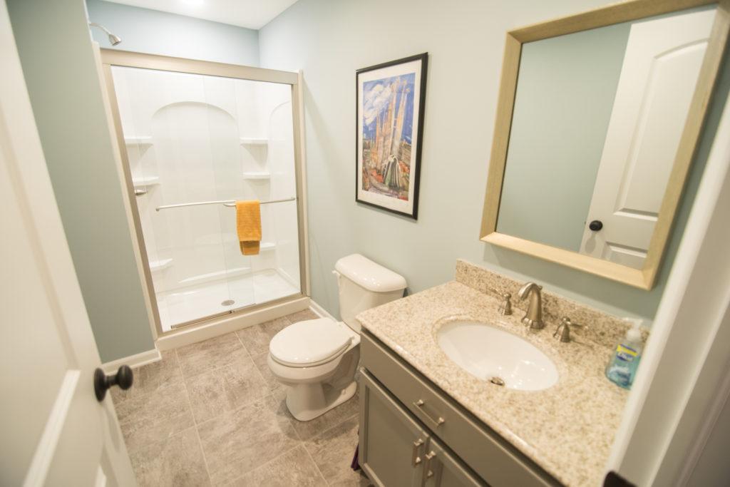 bathroom finished basement shower