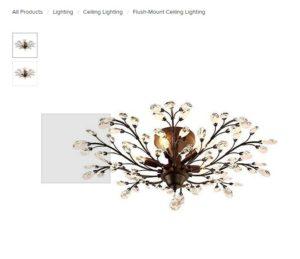 Basement lighting chandelier option