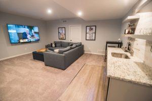 finished basement open floor plan design