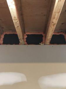 Basement finishing bond insulation