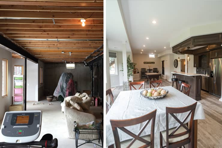 before and after northville michigan basement