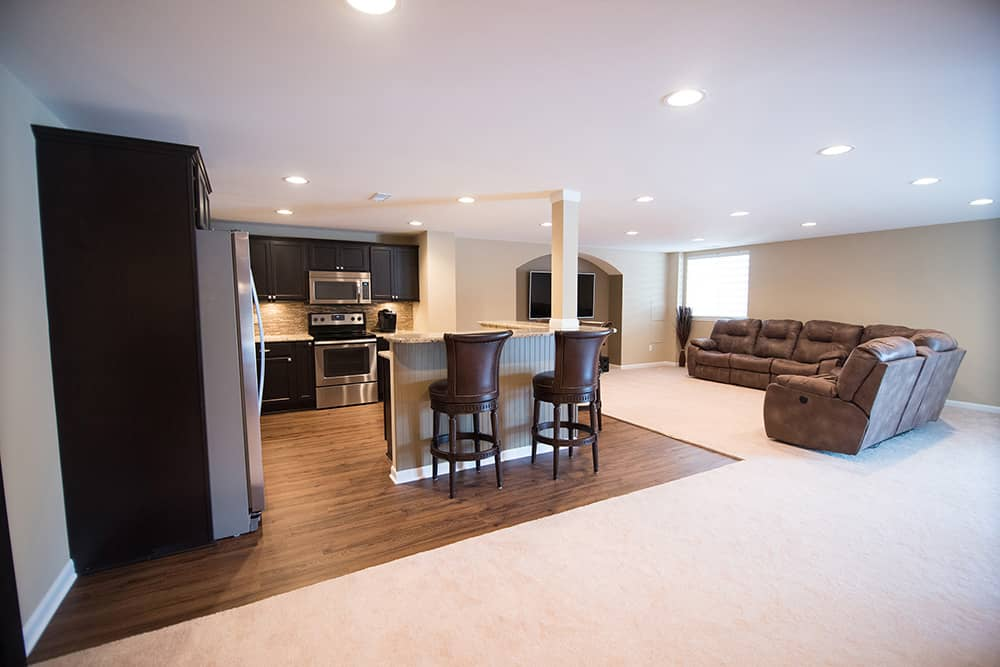 south lyon michigan finished basement wide open floorplan and design