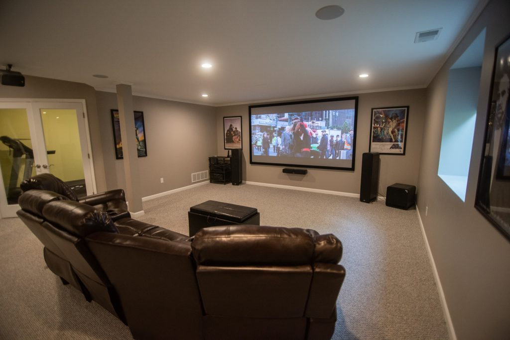 basement home theater brighton michigan