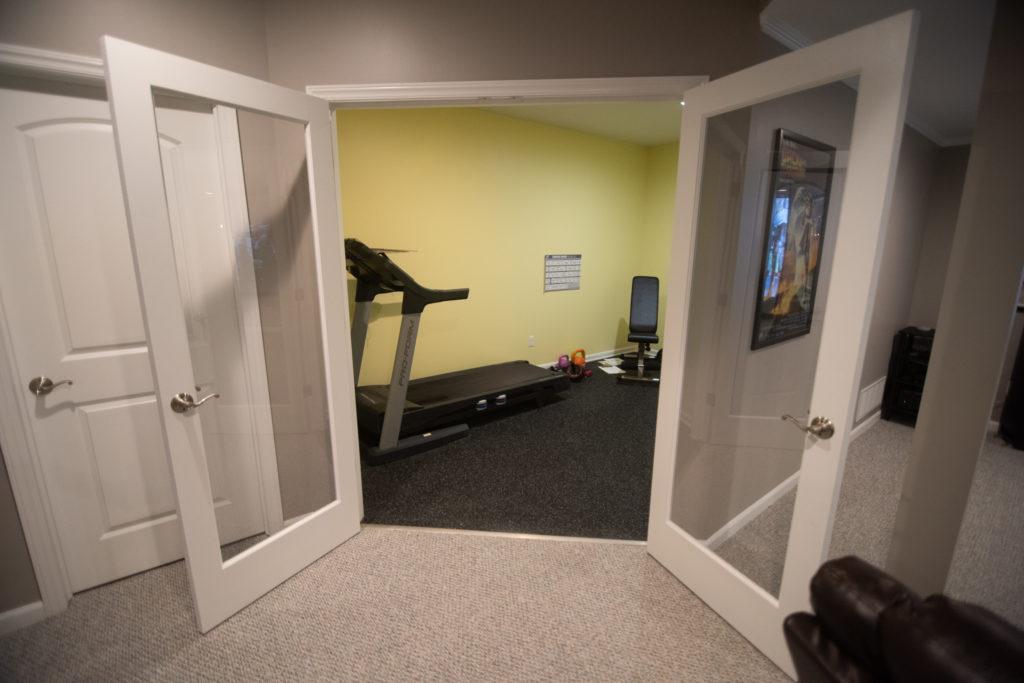 fitness room basement remodel