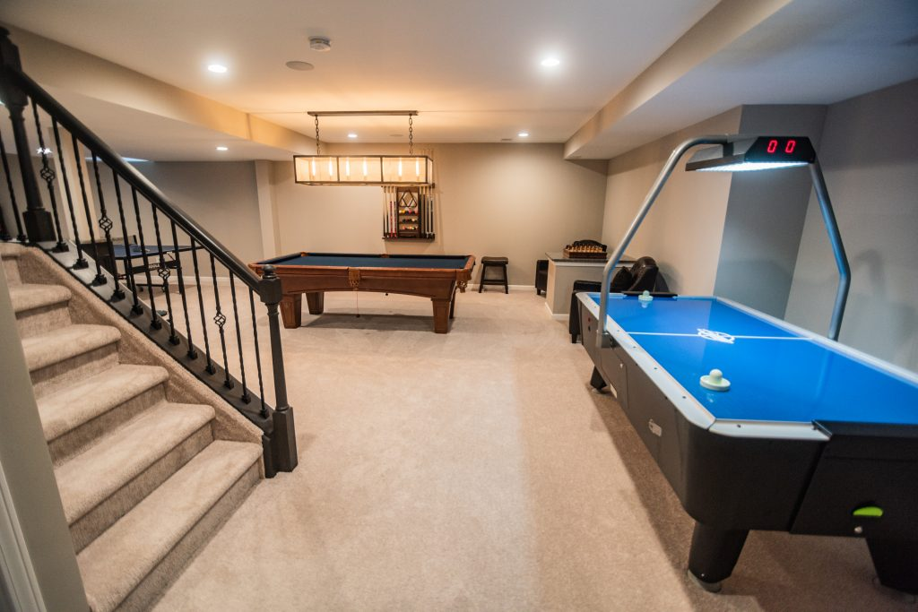 basement staircase open rail view basement novi