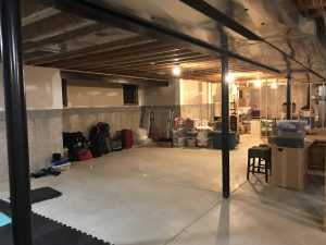 Plan for TV room when basement is finished