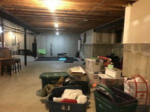 Basement floor plan options for workout area