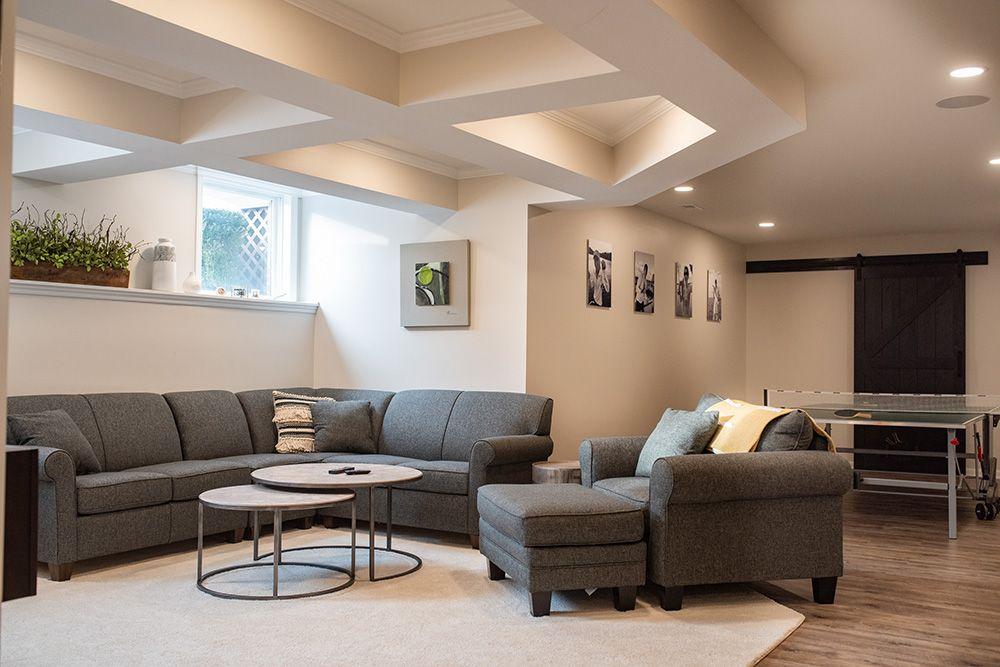 Finished basement in Highland, MI