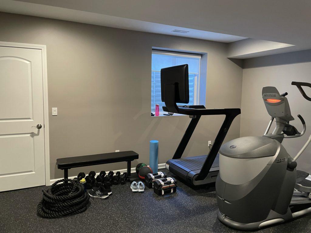 Northville, Michigan finished basement home gym