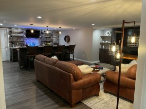 Northville, Michigan finished basement living room